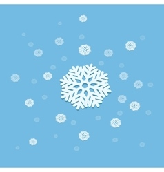 3d snowflake explosion abstract vector