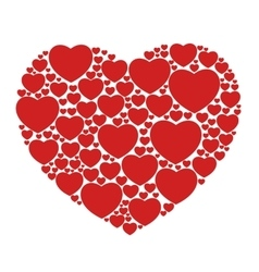 Red hearts isolated vector