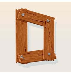 wooden letter d vector image