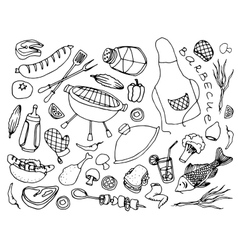 Doodle barbecue vector