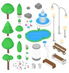 Park elements set vector
