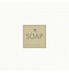 Background for natural handmade soap vector