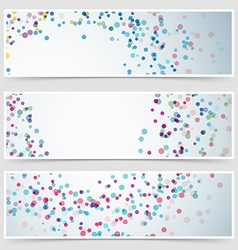 Beutiful colorful dot pattern card collection vector image vector image