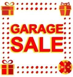 Big winter sale poster with garage sale text vector