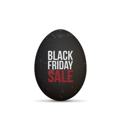 Black friday sale text on realistic egg vector
