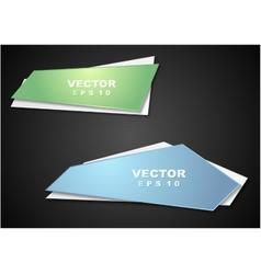 Bright elegant banners vector