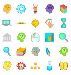 brilliant idea icons set cartoon style vector image
