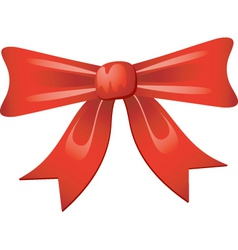 Christmas bow decoration vector image vector image