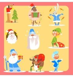 Christmas icon set collection vector
