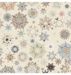 Christmas pattern snowflake EPS 8 vector image