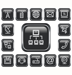 Communication buttons vector image vector image