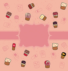 Cookie pattern vector image