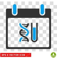 Dna analysis calendar day eps icon vector