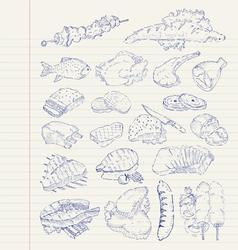 drawing set 0008 vector image