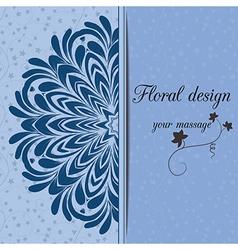 Floral design card vector