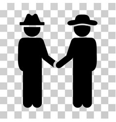 Gentleman handshake icon vector