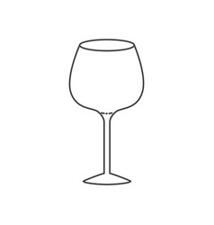 Glass of champagne sour monochrome silhouette vector