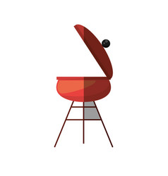 grill cooking picnic shadow vector image vector image