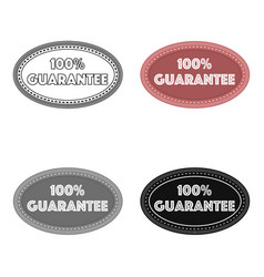Guarantee label icon in cartoon style isolated on vector