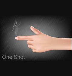 hand making gesture shooting gun vector image