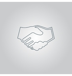 handshake background for business and finance vector image