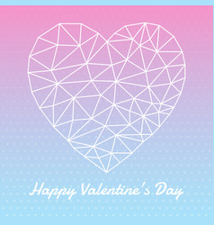 Heart shape for valentines day vector