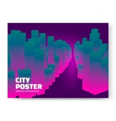 Luminescent city background vector