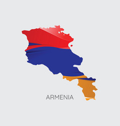 map of armenia vector image
