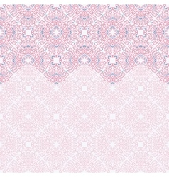 Seamless border ornate in eastern style vector