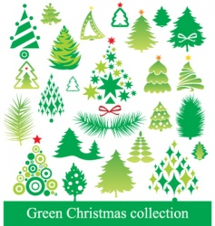 set of Christmas tree vector image