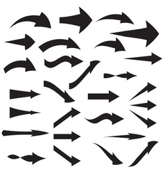 set of curved arrow icons vector image