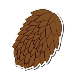 single pine cone icon vector image