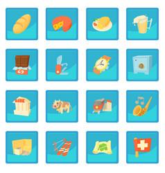 Switzerland travel icon blue app vector