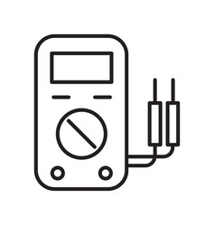 thin line voltage gage icon vector image vector image