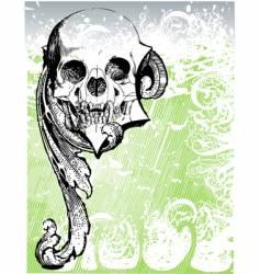 vampire heraldic skull illustration vector image vector image