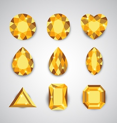 yellow gem vector image vector image