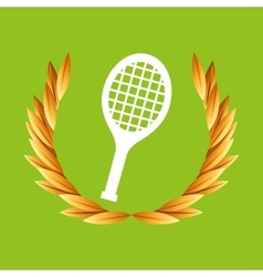 Tennis sport olympic blue badge vector