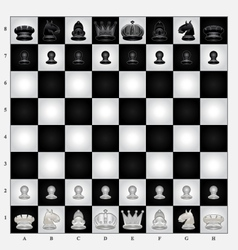 Chess set vector