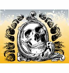 The grateful skull illustration vector