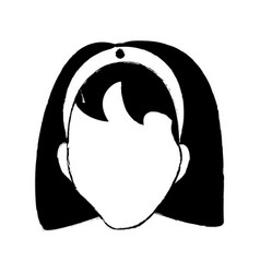 Avatar female person head vector