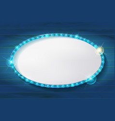 Oval cinema frame vector