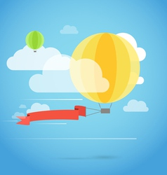 Flying ballon with the banner vector