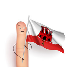 gibraltar waving flag vector image