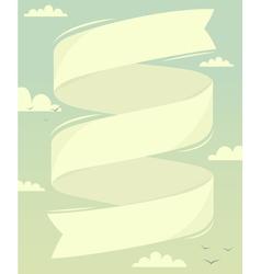 Banner in sky vector