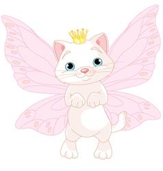 Cute Fairy Cat vector image