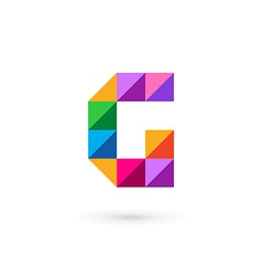 Letter g mosaic logo icon design template elements vector