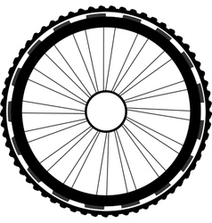 Silhouette of a bicycle wheel vector
