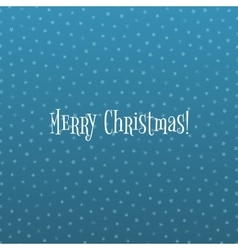 Snowflake christmas pattern on blue ice background vector