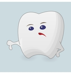Tooth with thumb down vector