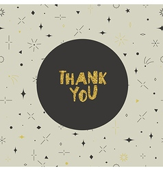 Thank you card geometric seamless pattern gold vector